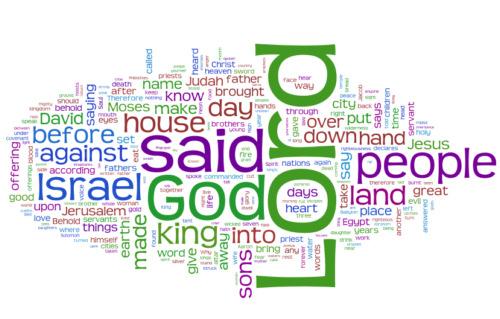 Whole Bible Wordle